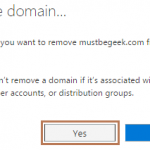 Remove Domain Name from Office 365