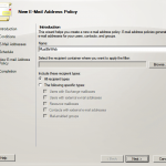 Configure Email Address Policy in Exchange 2010