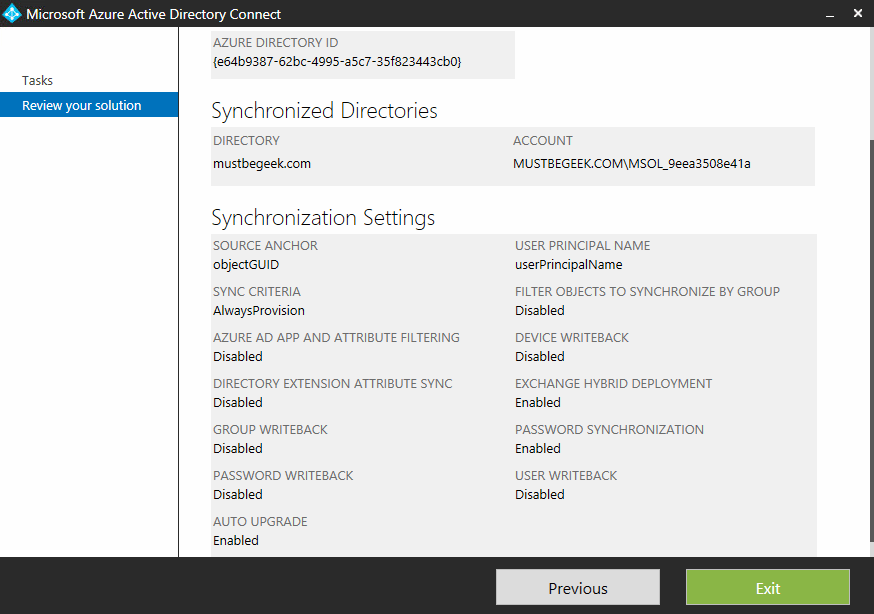 Azure AD Configuration