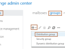 Create Distribution Group in Exchange 2016