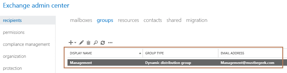 dynamic distribution group