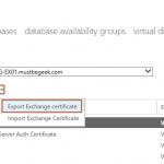 Export and Import Certificate in Exchange 2016