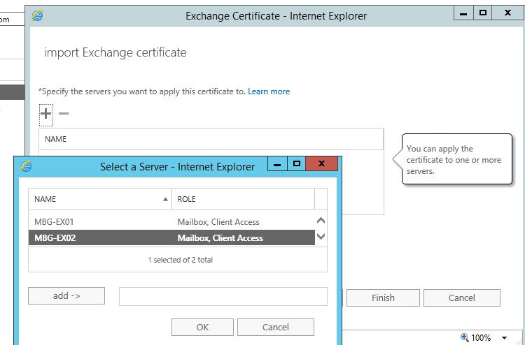 specify server