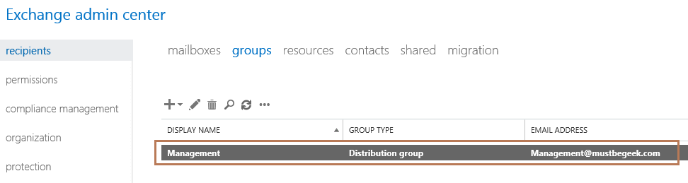 view distribution group