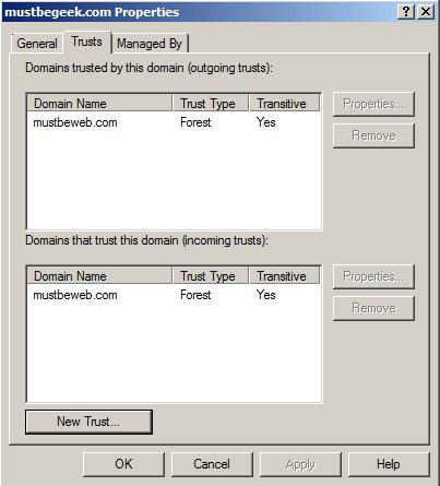 Create Two-Way Forest Trust in Windows Server 2008 R2MustBeGeek