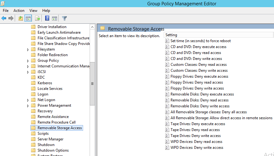 Block USB or Removable Devices using Group Policy