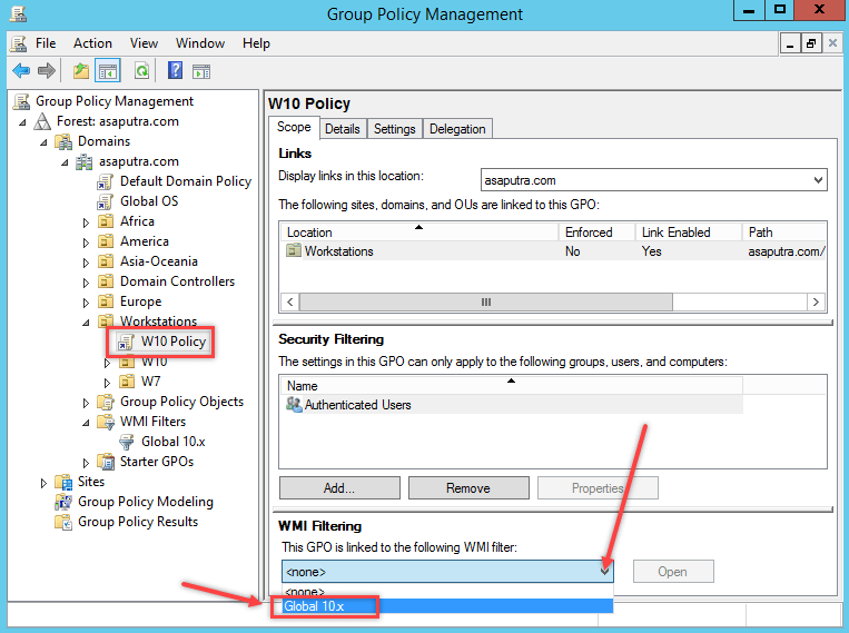 Applying WMI Filter to Group Policy - 7