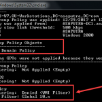 Applying WMI Filter to Group Policy