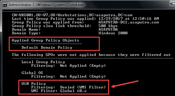 Applying WMI Filter to Group Policy - 8