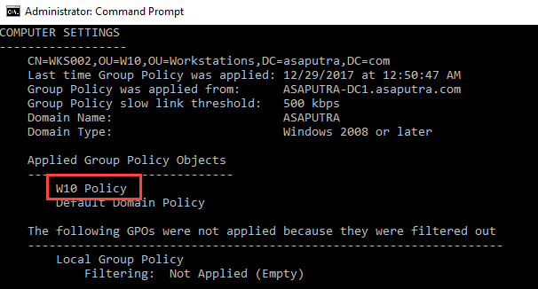 Applying WMI Filter to Group Policy - 9