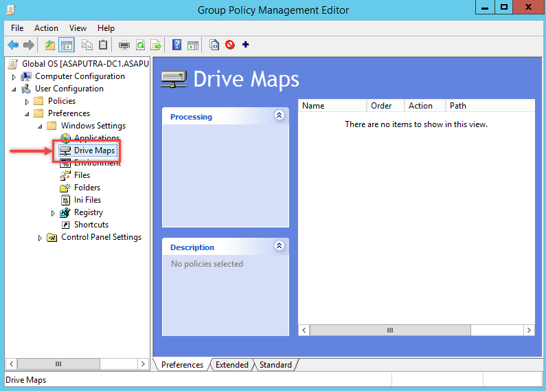 How to Map Network Drive using Group Policy