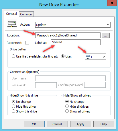 How to Map Network Drive using Group Policy - 5