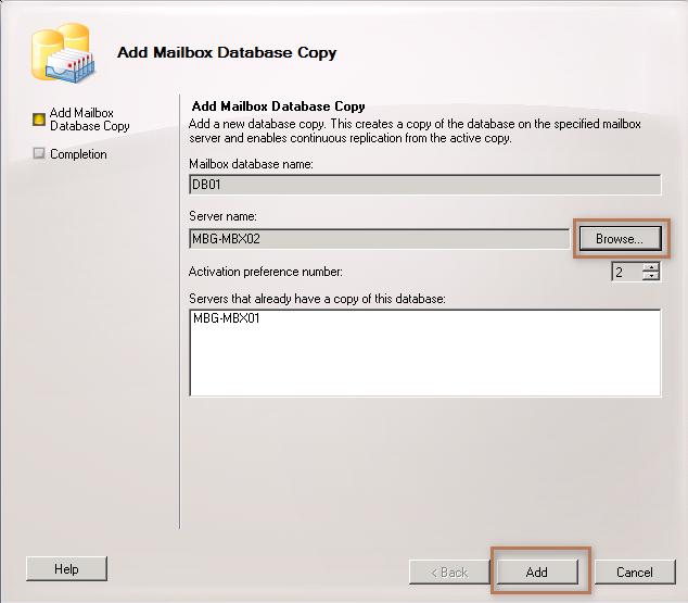 Add Mailbox Database Copy