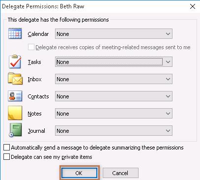 Delegate Permission