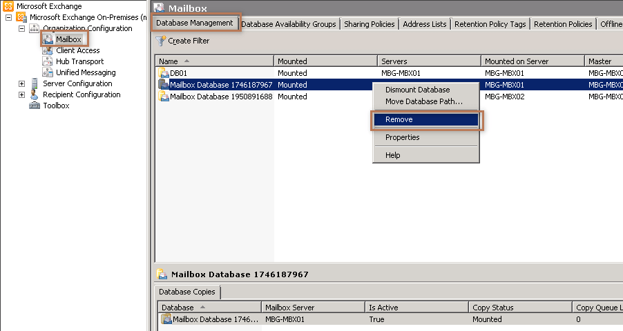 Delete Default Mailbox Database in Exchange 2010MustBeGeek