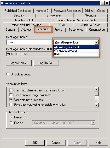 User Properties 2