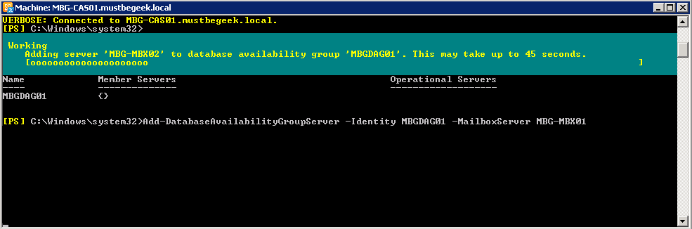 add member server to dag