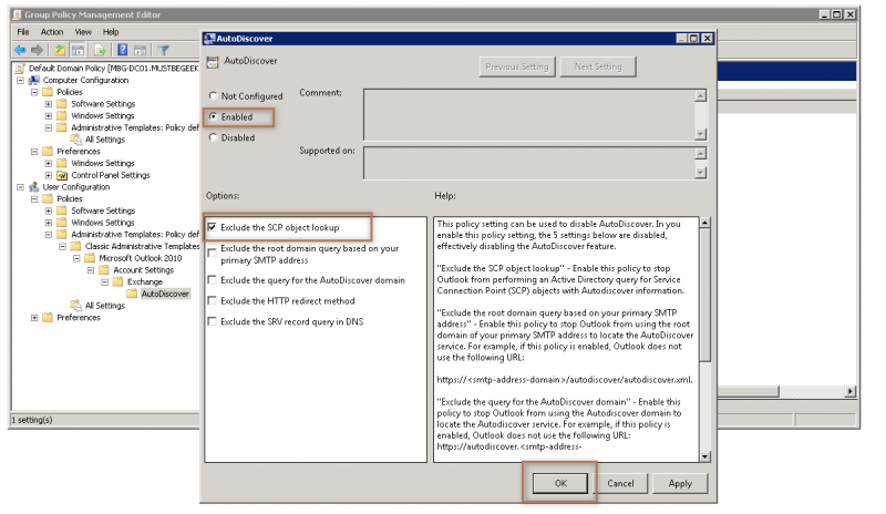 default font outlook group policy