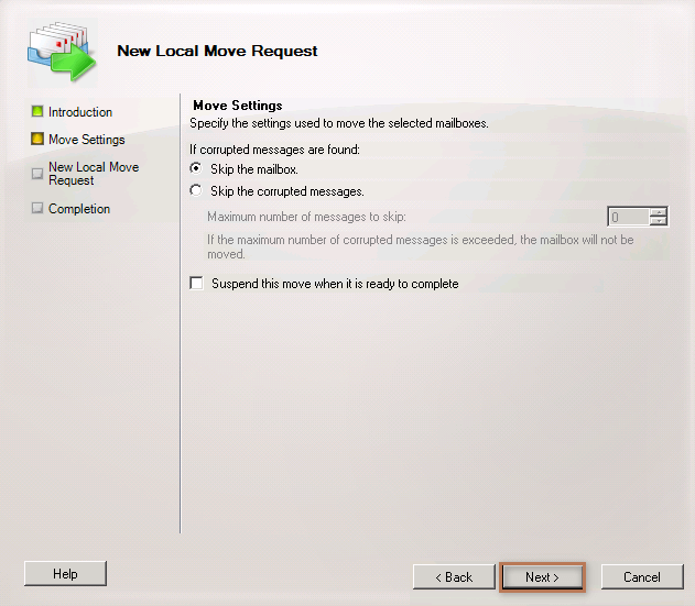 Move Settings Page
