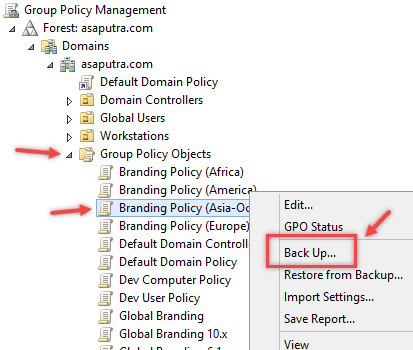 Backup and Restore Group Policy Object in Windows - 1