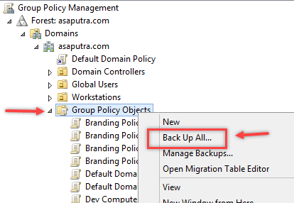 Backup and Restore Group Policy Object in Windows - 2