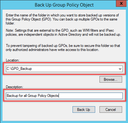 Backup and Restore Group Policy Object in Windows - 3