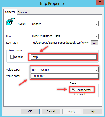 Configure Internet Site Zone using Group Policy Preferences - 4