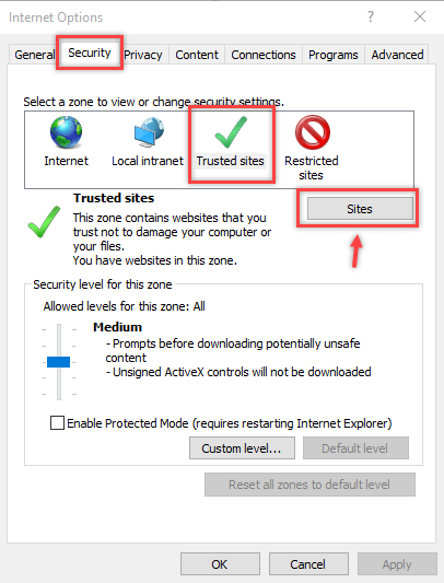 Configure Internet Site Zone using Group Policy Preferences - 5