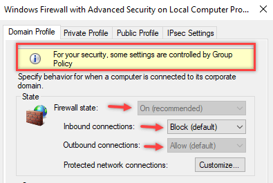 Configure Windows Firewall Rule using Group Policy - 15