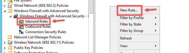 Configure Windows Firewall Rule using Group Policy - 5