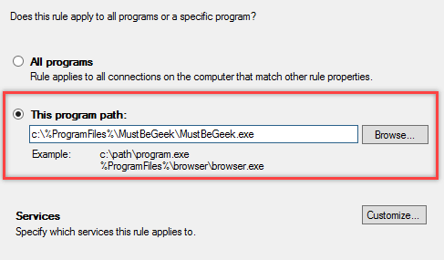 Configure Windows Firewall Rule using Group Policy - 7