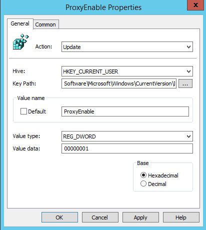 Configure Proxy Settings using Group Policy