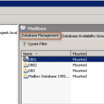Manually Failover Database in Exchange 2010 DAG