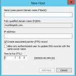 Add Host A Record in Windows DNS Server