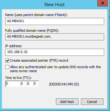 Add Host A-Record in Windows DNS Server - 4