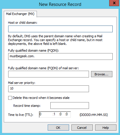 Add MX Record in Windows DNS Server - 3