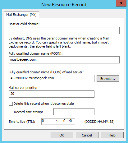 Add MX Record in Windows DNS Server - 5