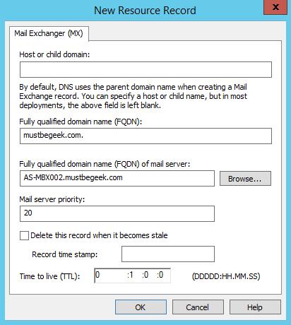 Add MX Record in Windows DNS Server - 5