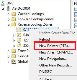 Add PTR Record in Windows DNS Server