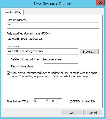 Add PTR Record in Windows DNS Server - 4