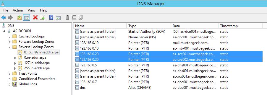 Add PTR Record in Windows DNS Server - 6