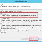 Configure Primary Zone in Windows DNS Server