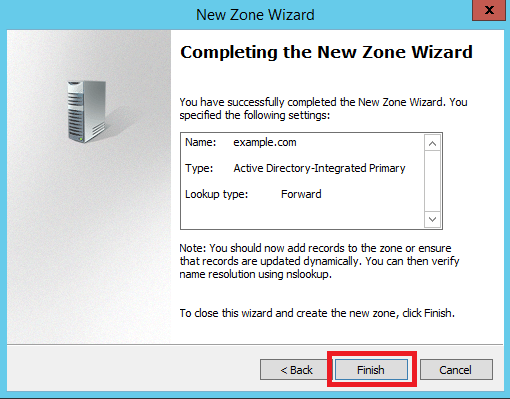 Configure Primary Zone in Windows DNS Server - 9