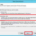 Configure Secondary Zone in Windows DNS Server