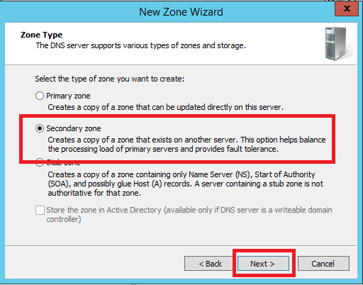 Configure Secondary Zone in Windows DNS Server - 5