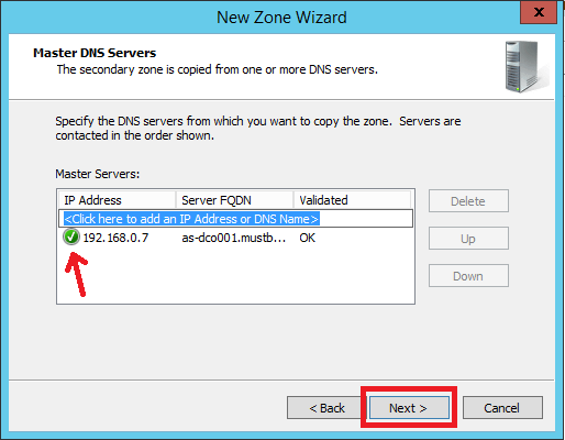 Configure Secondary Zone in Windows DNS Server - 7
