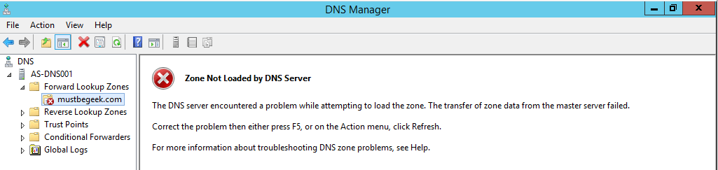 Configure Secondary Zone in Windows DNS Server - 9