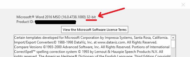 How to Find If I Have 32-bit or 64-bit Office Version - 4