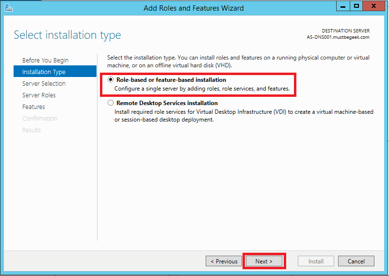 Install DNS Server Role in Windows Server 2012 R2 - 2