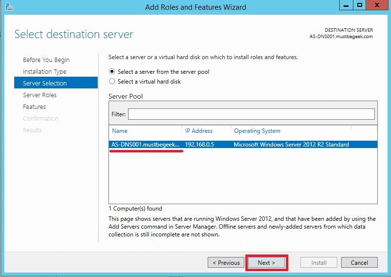 Install DNS Server Role in Windows Server 2012 R2 - 3